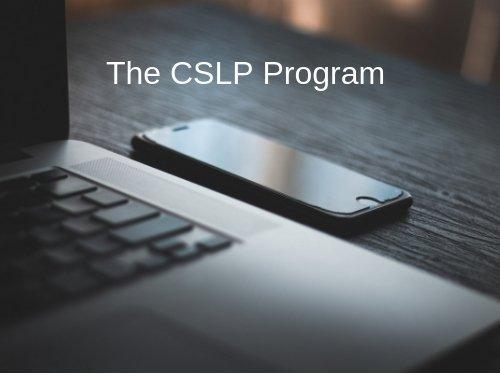 CSLP Renewal
