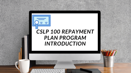 CSLP 100 Student loan repayment planning